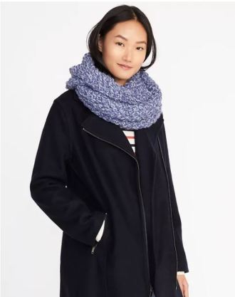 Honeycomb-knit infinity scarf