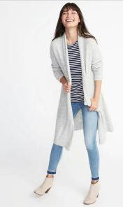 Shawl-Collar open Front Cardi for Women